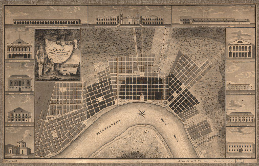 1815 plan for the city and suburbs of New Orleans