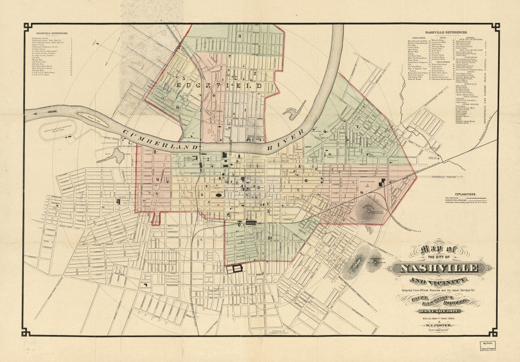 1877 map of Nashville