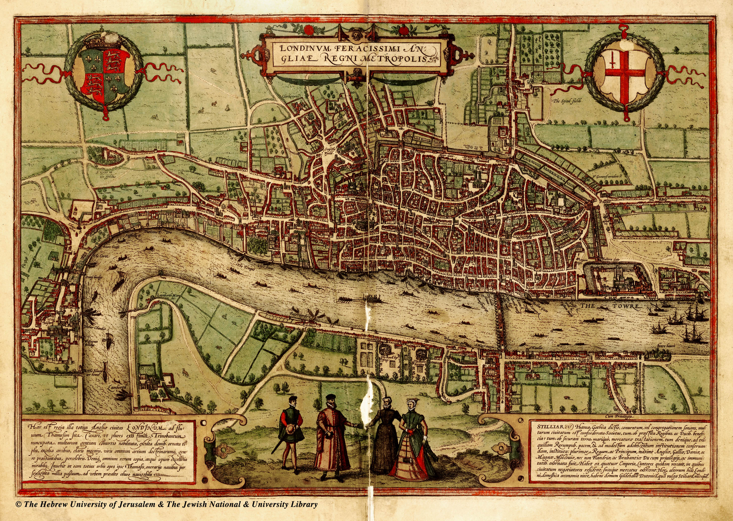 Amazing 1560 Map Of London Cool Old Photos