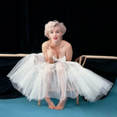 Marilyn Monroe photographed by Milton Greene during their ballerina sitting.
