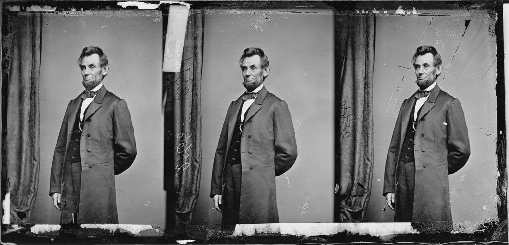 Abraham Lincoln in 1863 by Mathew Brady