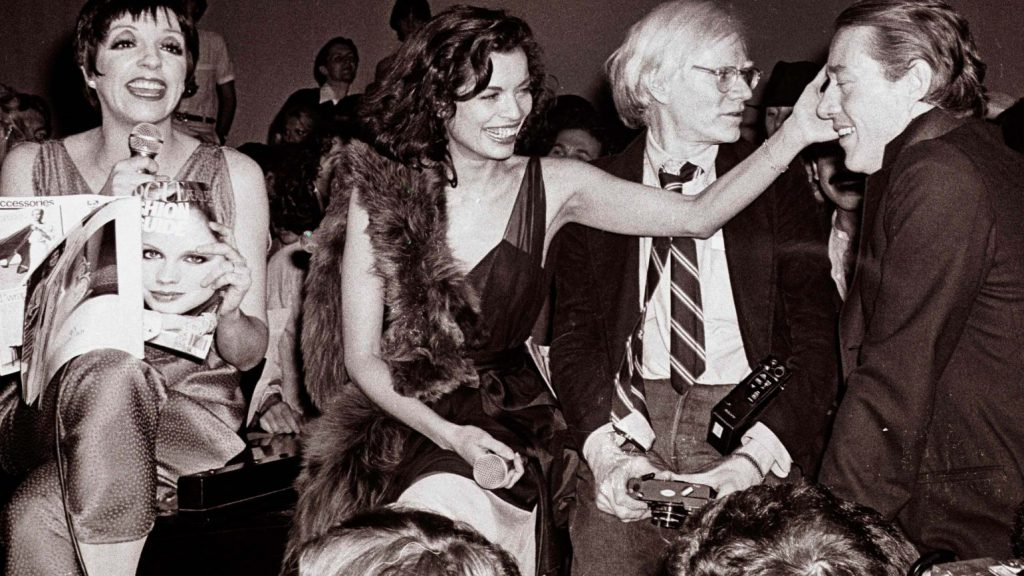 Liza Minelli and Andy Warhol